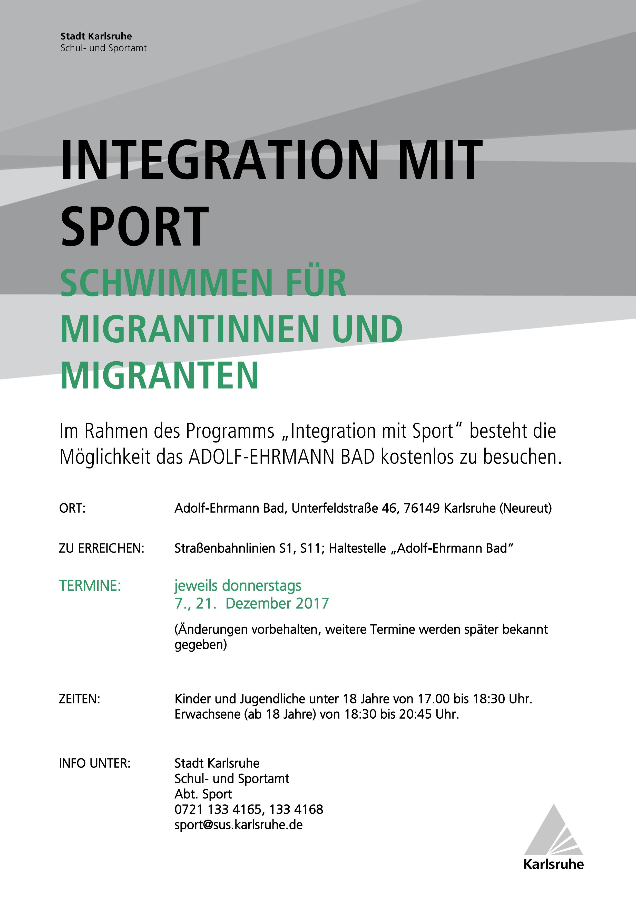schwimmen Intergation Sport